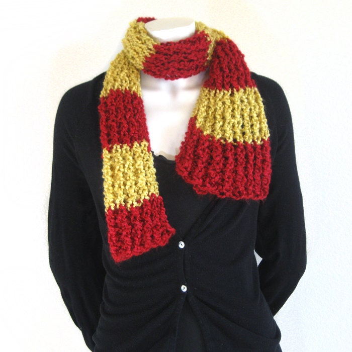 harry potter scarf house colors gryffindor gold yellow and