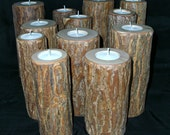 Rustic Candleholders Group of 12 Tall Version