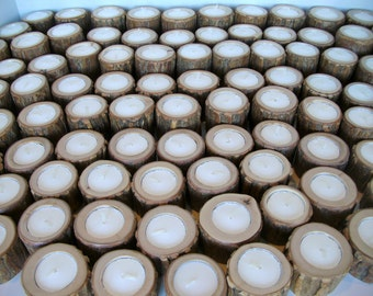 100 Rustic Candles for Wedding Reception Anniversary Dinner or Party - Custom Listing FOR YOU