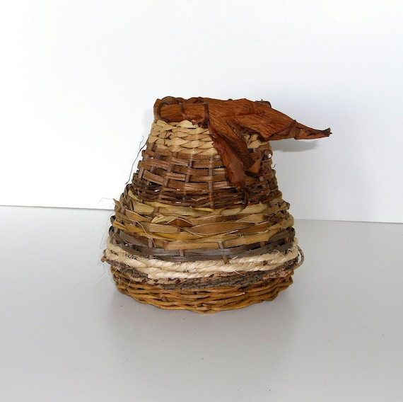 Natural Basket in Shades of Brown
