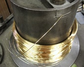 24K 28 Gauge  Pure Gold  6 Inches  Round Wire FH
