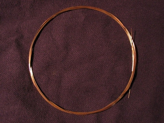 14K PINK (Rose) Solid Gold Round Wire 28G HH  1 Foot