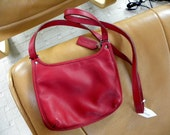 red Coach leather Pouch Bag with tag... Never used