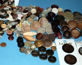 Buttons lot 8 oz container full of Brown Assorted Buttons