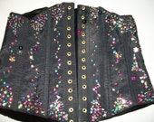 Black acetate sequinned corset Midnight Movie