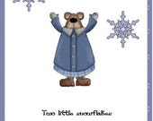 Five Little Snowflakes Fingerplay Circle Time Printable Holiday Book