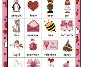 Valentine Heart Bingo Printable  Instant Download 4 Boards Full Page Size Perfect for Party Homeschool Fun February Activity Memory Game