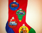 Cars Inspired Christmas Stocking (not a licensed product)
