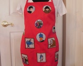Apron Made with The Beatles Fabric (not a licensed product)