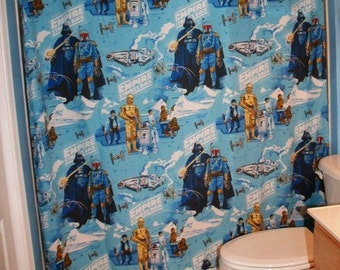 Curtains Ideas curtains made from bed sheets : Shower Curtain Made with Vintage Star Wars Bed Sheet Ready To