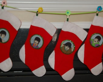 Beatles Christmas Stocking Set of 4 (not a licensed product)