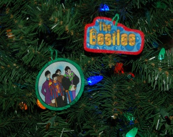 The Beatles Yellow Submarine Christmas Ornament (not a licensed product)