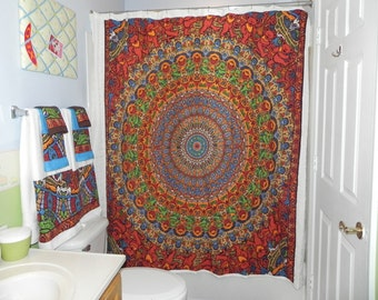 Custom Made to Order shower curtain made from Grateful Dead Tapestry (curtain only) (not a licensed product)