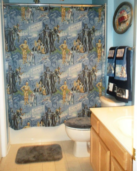 Bathroom Set Made With Vintage Star Wars Bed by greatfulthread