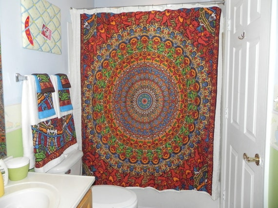 Custom Made To Order Shower Curtain Made From Grateful Dead