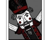 Nutcracker - GingerDead Goth / Alt Greeting Cards - Blank 5 PACK w/ Envelopes - Christmas / Holiday