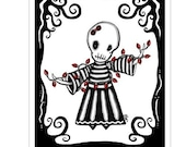 Ennui Merry and Bright - GingerDead Goth Holiday Christmas Greeting Card w/envelope