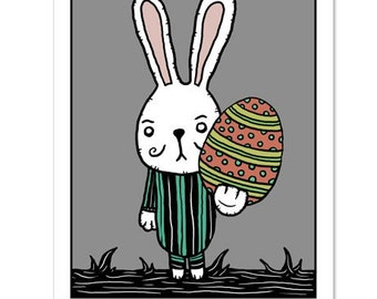 Funny Easter Egg / Easter Bunny Humor - GingerDead Goth / Alt Greeting Card 5 PACK  w/ Envelopes