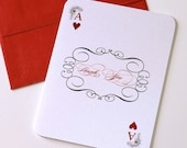 Stella Las Vegas Playing Card Thank you cards - Las Vegas Wedding Cards - Personalzied Stationery - Casino Note Cards (20 Pack)