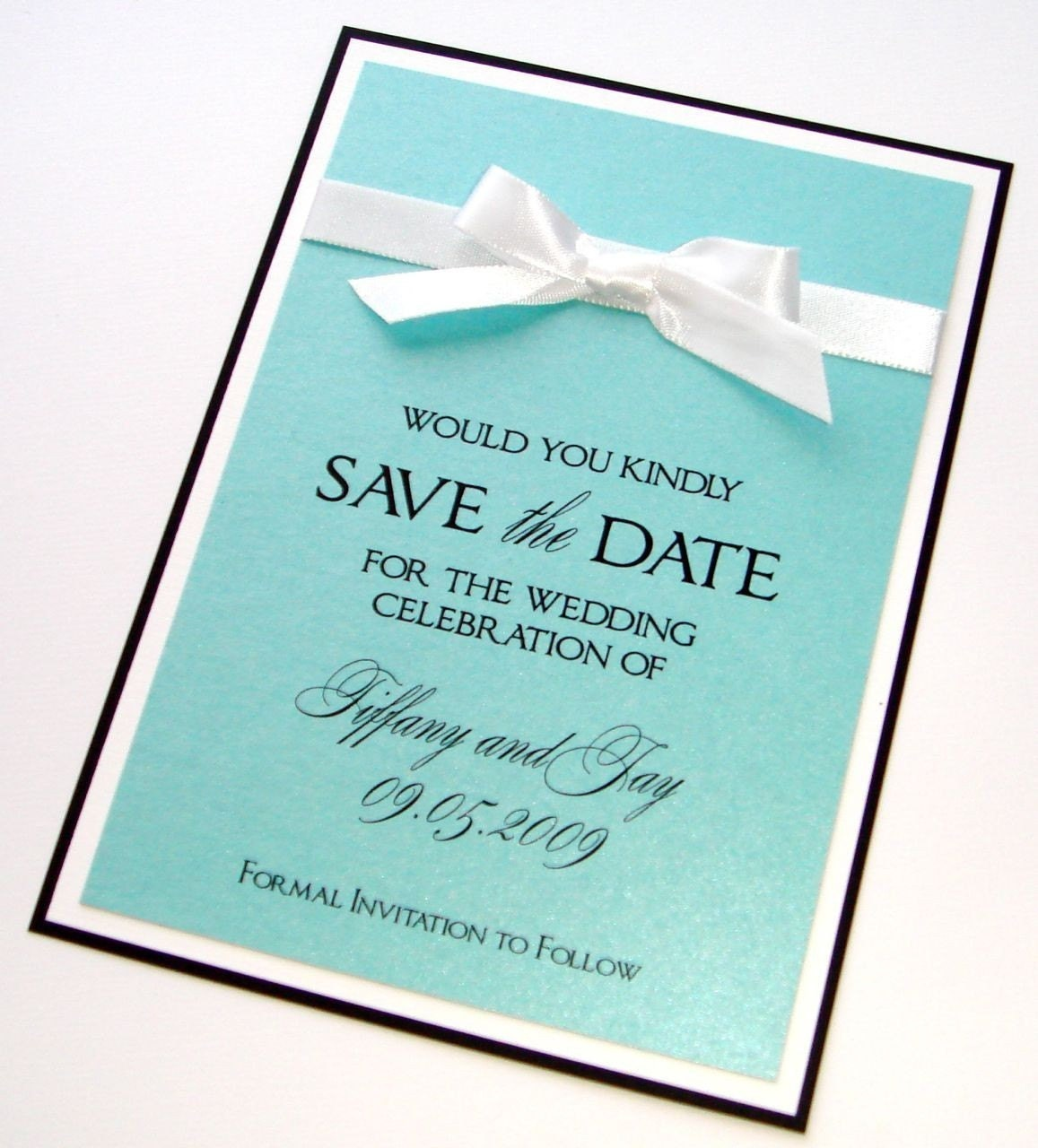 Tiffany Wedding Invitations: TIFFANY SAVE THE DATE SAMPLE