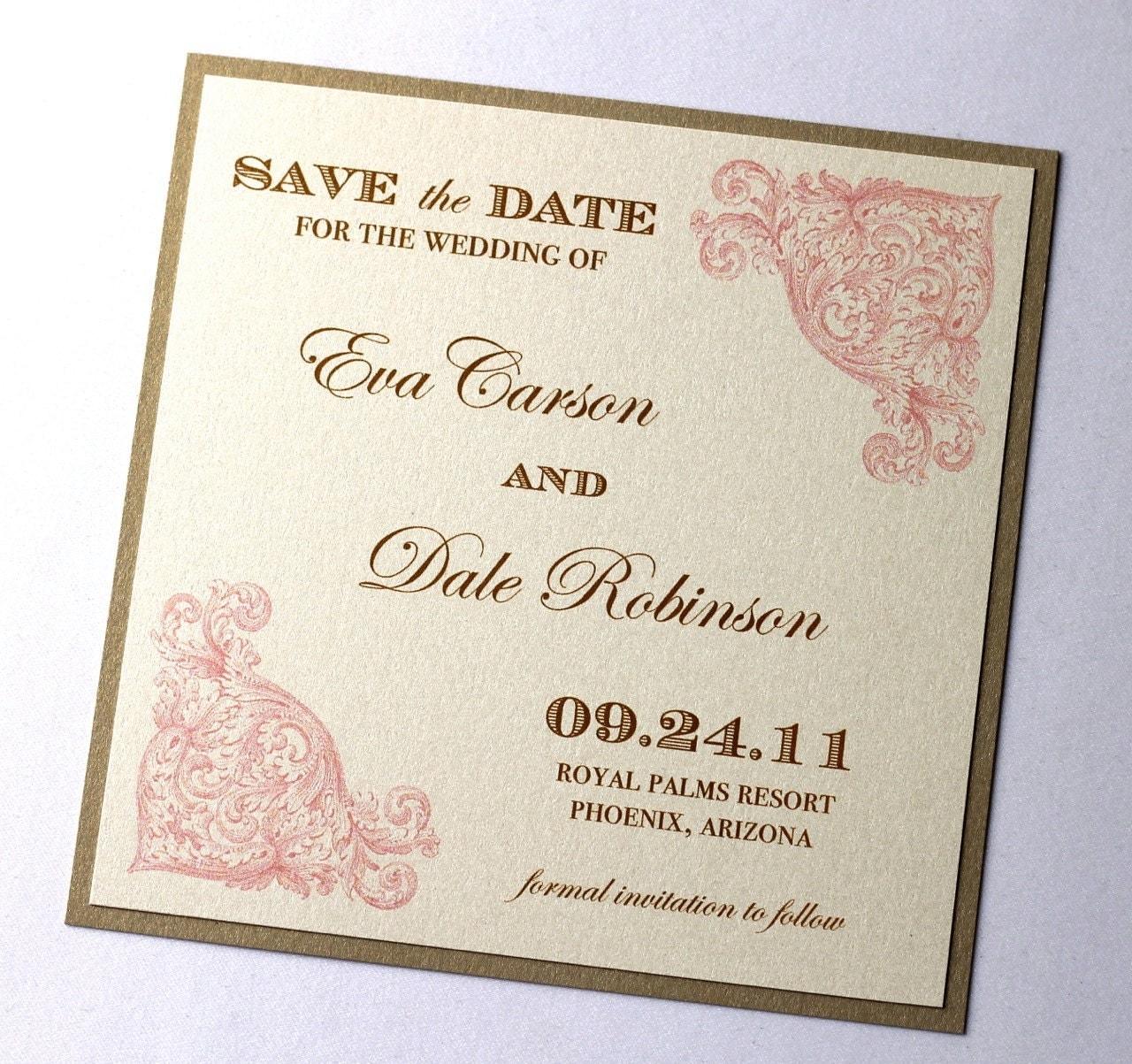 Eva Vintage Wedding Save the Date Sample Vintage Style