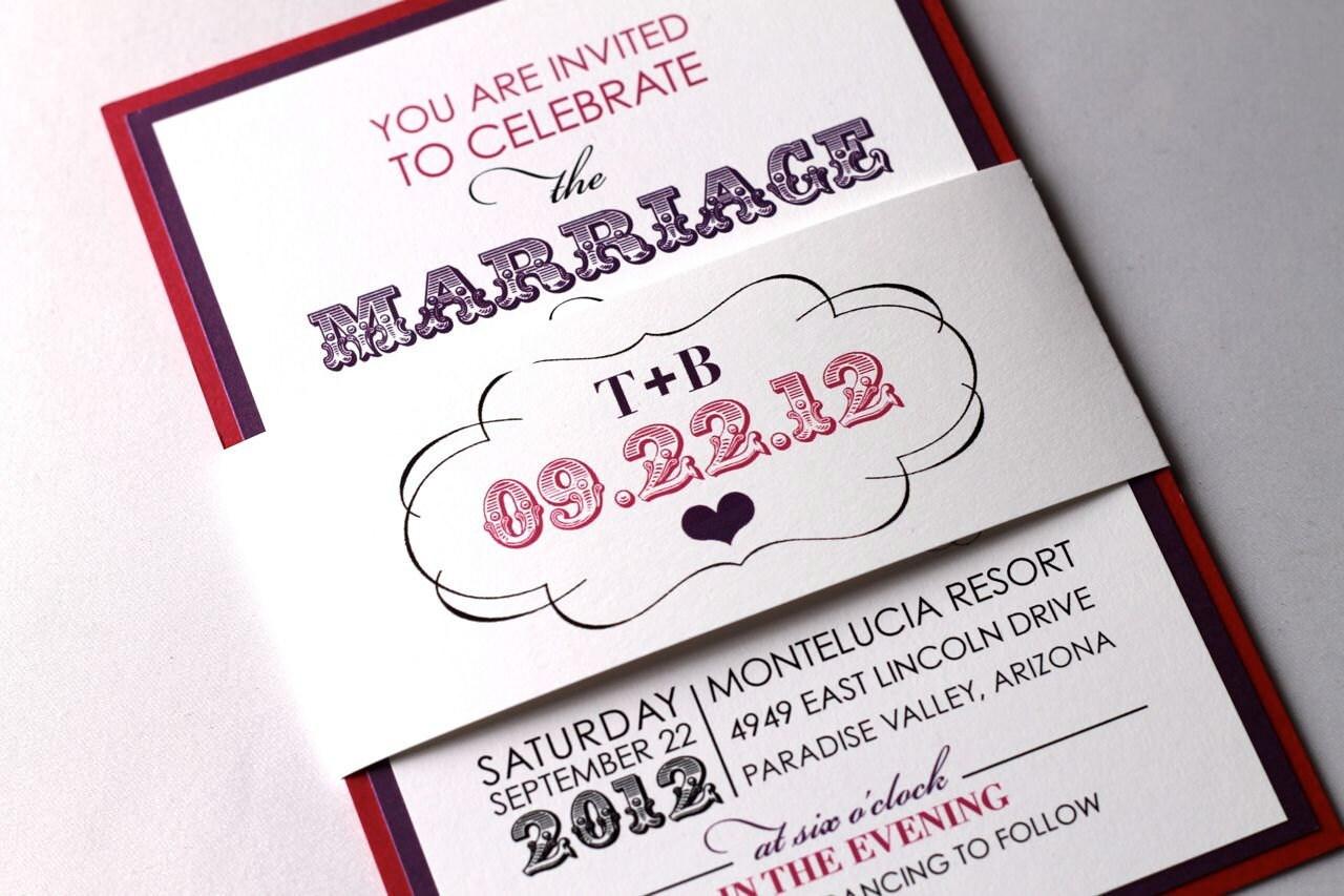 sample wedding invitation list