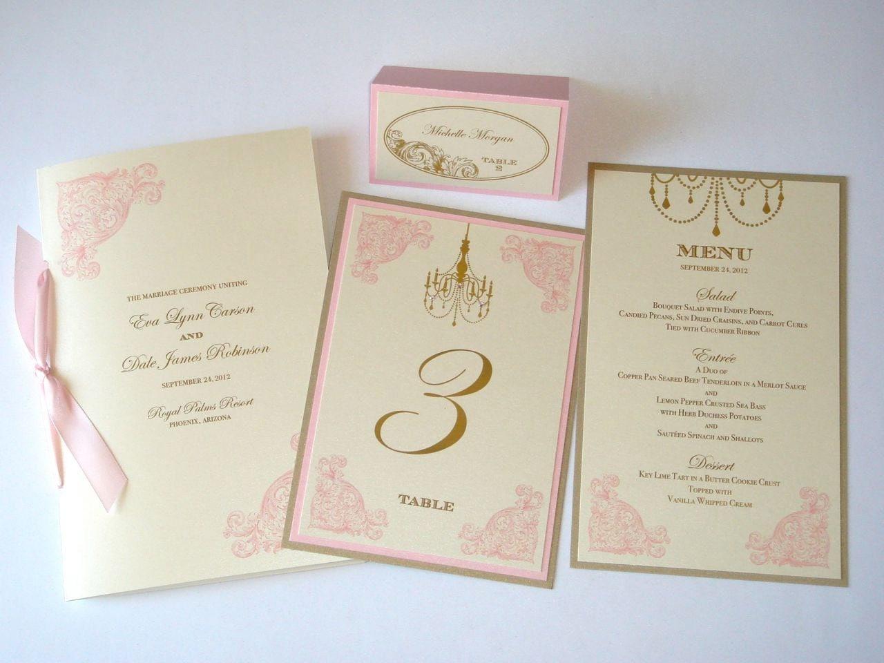 Eva Vintage Wedding Reception Stationery Menus Table