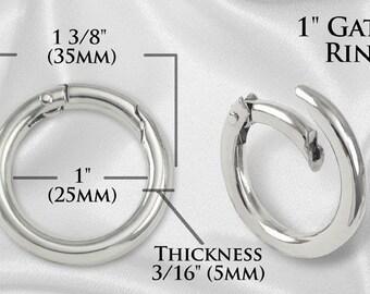 """10pcs - 1"""" Gate-Ring Nickel - Free Shipping (GATE RING GRG-108)"""
