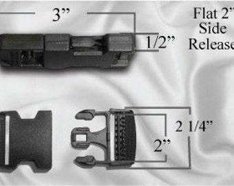 "50pcs - 2"" Flat Side Release Plastic Buckles (PLASTIC BUCKLE PBK-100)"