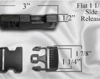 "30pcs - 1 1/4"" Flat Side Release Plastic Buckles (PLASTIC BUCKLE PBK-104)"