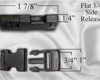 "10pcs - 3/4"" Flat Side Release Plastic Buckles (PLASTIC BUCKLE PBK-108)"