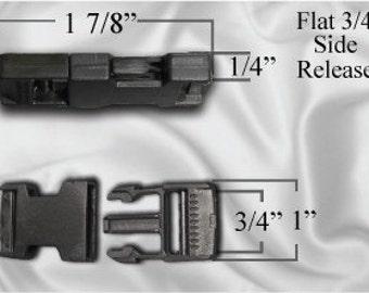"50pcs - 3/4"" Flat Side Release Plastic Buckles (PLASTIC BUCKLE PBK-108)"