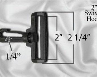 """50pcs - 2"""" Swivel Plastic Hook -  Black - Free Shipping (PLASTIC HOOK PHK-100)"""
