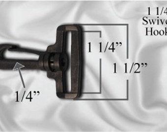 """10pcs - 1 1/4"""" Swivel Plastic Hook - Black - Free Shipping (PLASTIC HOOK PHK-104)"""