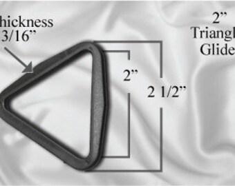 "30pcs - 2"" Triangle Glide - Black Plastic (TTG-100)"