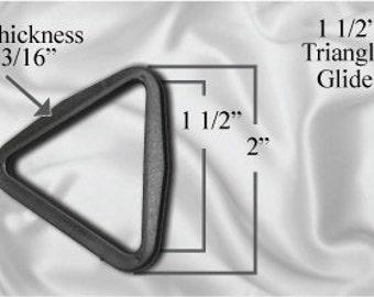 "30pcs - 1 1/2"" Triangle Glide - Black Plastic (TTG-102)"