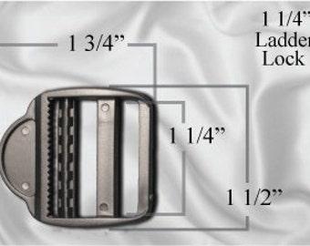 """30pcs - 1 1/4"""" Ladder Locks - Black Plastic (PLL-102)"""