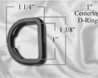 "50pcs - 1"" Centering D-Ring - Black Plastic (PCR-102)"