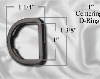 "100pcs - 1"" Centering D-Ring - Black Plastic (PCR-102)"