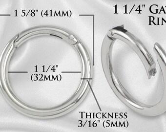 """30pcs - 1 1/4"""" Gate-Ring - Nickel - Free Shipping (GATE RING GRG-116)"""