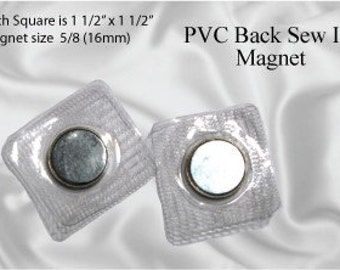 30pcs Hidden 17mm Sew In Magnetic Purse Snap / Closure (MAGNET SNAP MAG-146)