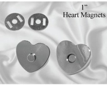 10 pcs Heart Shaped 18mm Magnetic Purse Snap Nickel (MAGNET SNAP MAG-158)