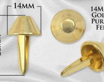 20pcs -14mm Purse Feet - Gold - Free Shipping (PURSE FEET PFT-120)