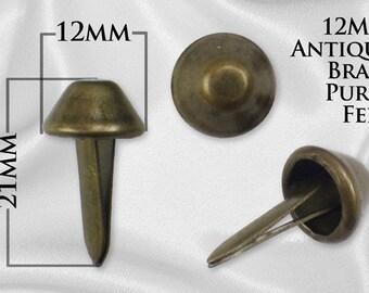 100pcs - 12mm Purse Feet - Antique Brass - Free Shipping (PURSE FEET PFT-114)