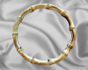 """10pcs - 4 1/2"""" Full Ring Bamboo Handles - Natural Laquered Finish - Free Shipping (BAMBOO BAM-100)"""