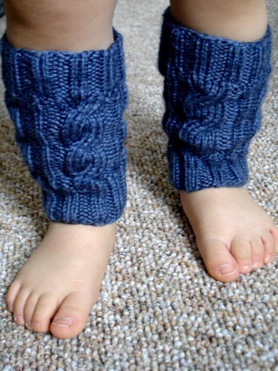 Denim Baby Leg Warmers