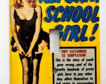 Reform School Girl Switchplate