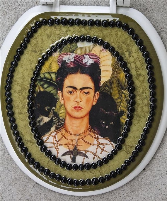 Frida Kahlo Decorative Toilet Seat By Toiluxe On Etsy