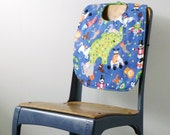 Circus Elephant Baby Bib with Snaps - Gender Neutral