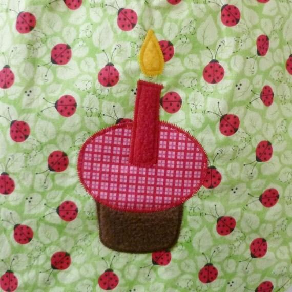 SALE - Ladybug 1st Birthday Baby Bib